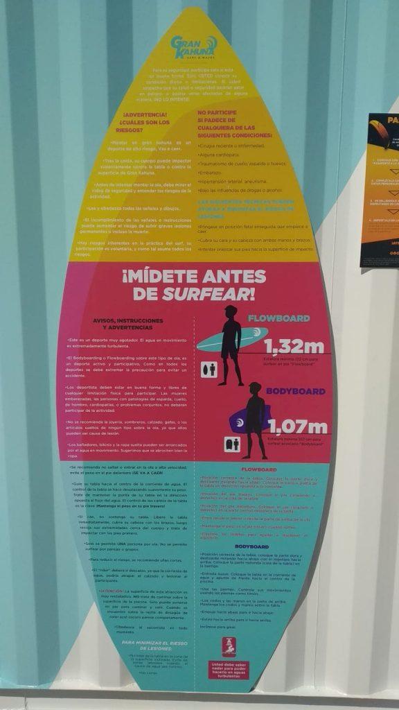 Instrucciones Piscina Olas Surf Lagoh Sevilla