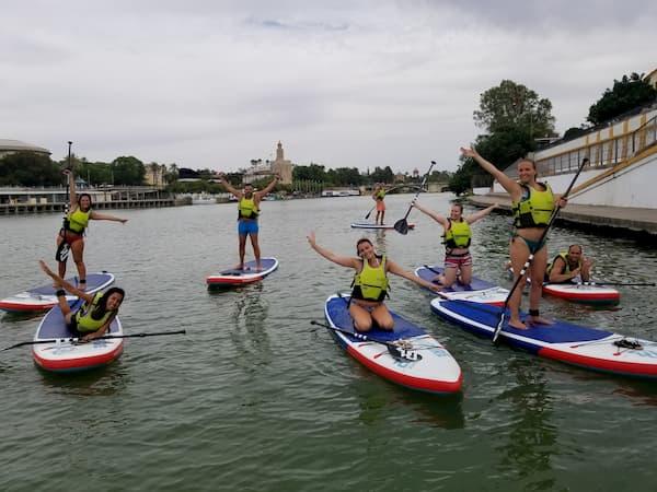 Qué hacer con amigas en Sevilla Paddle Surf