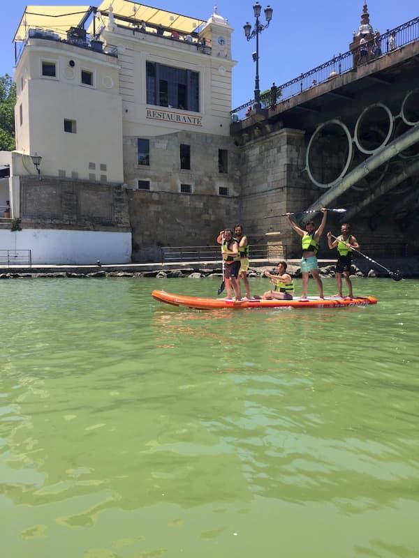 Que hacer en Sevilla con amigos Paddle Surf